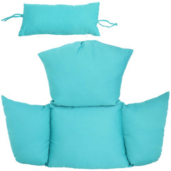 Replacement Seat Cushion and Headrest Pillow for Penelope and Oliver Egg Chairs, Turquoise