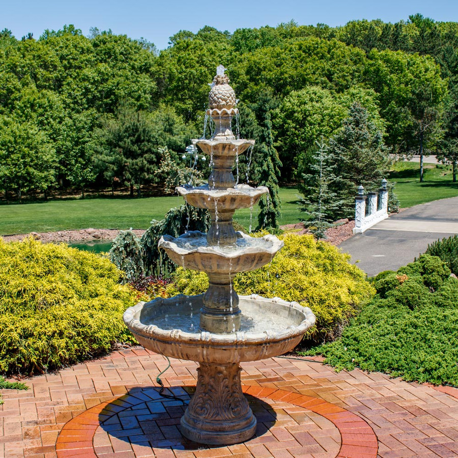 4-Tier Grand Courtyard Fountain - Earth Color
