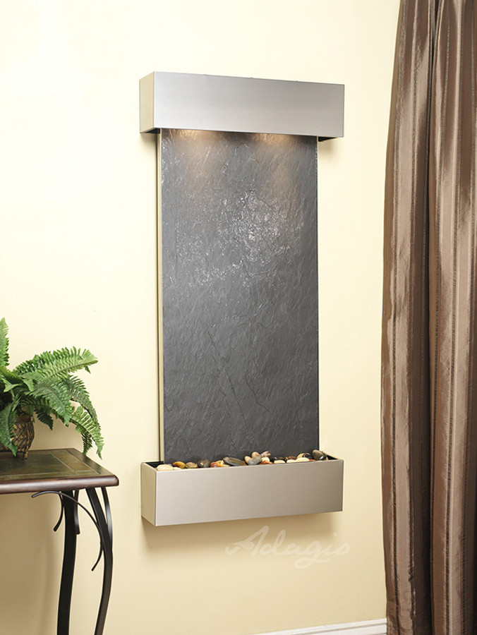 Stainless Steel with Black Featherstone