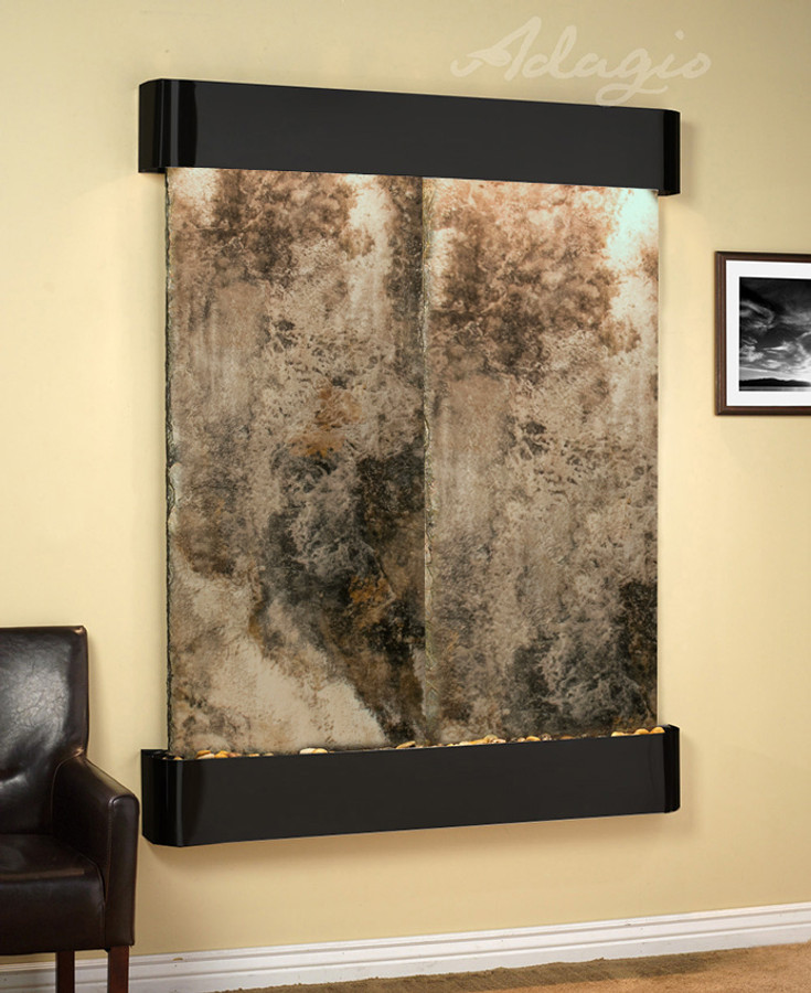 Blackened Copper with Travertine