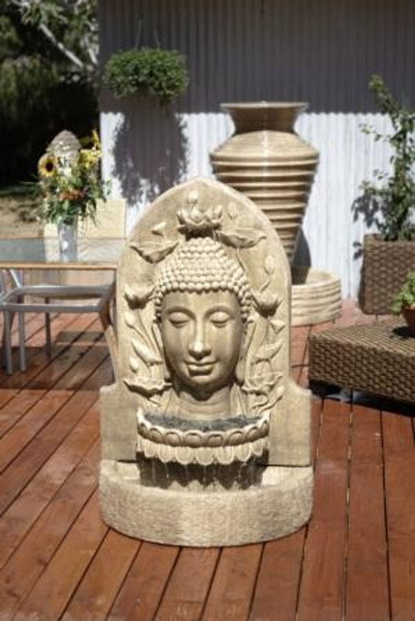 Buddha Head Fountain by Gist Decor