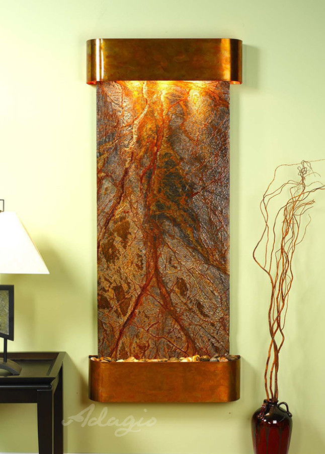 Rustic Copper & Brown Marble