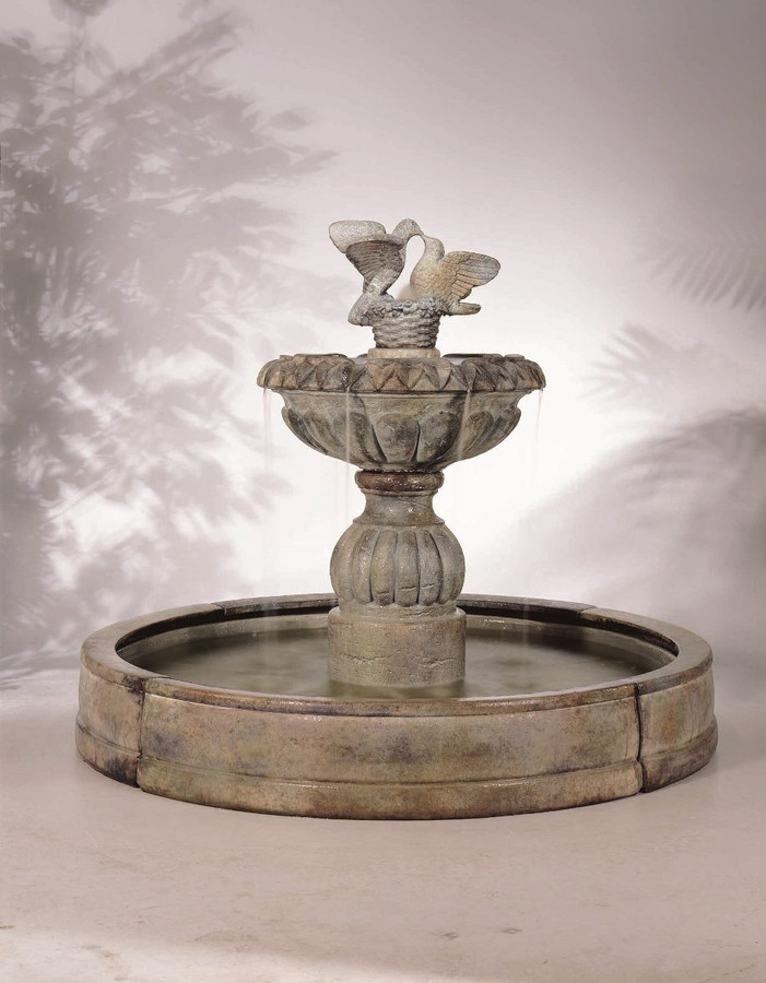 Paloma Cascada in Valencia Cast Stone Fountain by Henri Studio