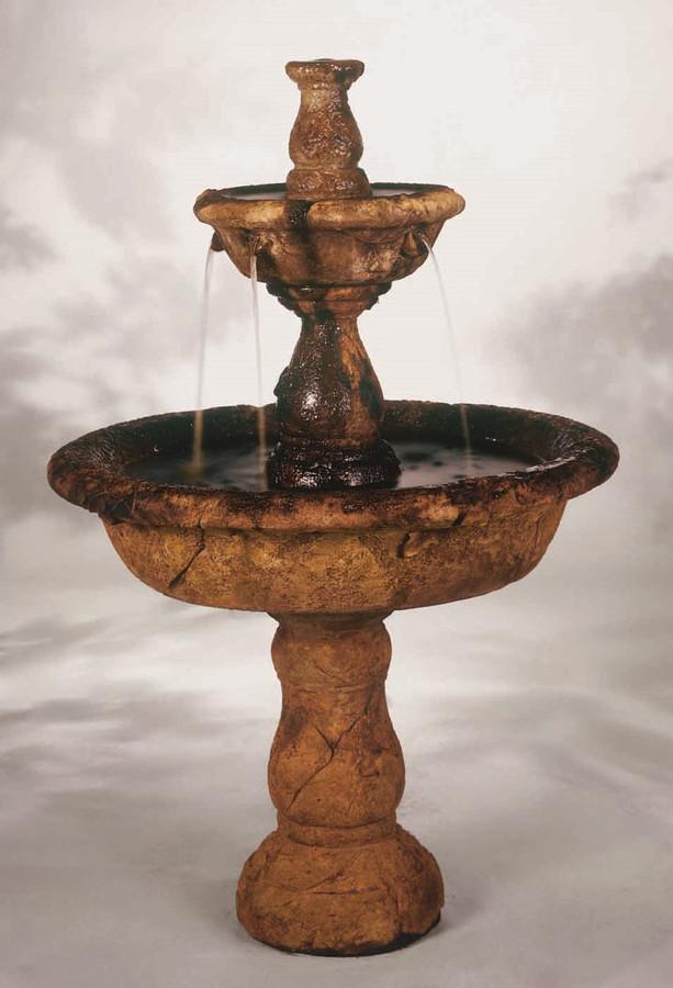 Small Tazza Cast Stone Tiered Fountain by Henri Studio