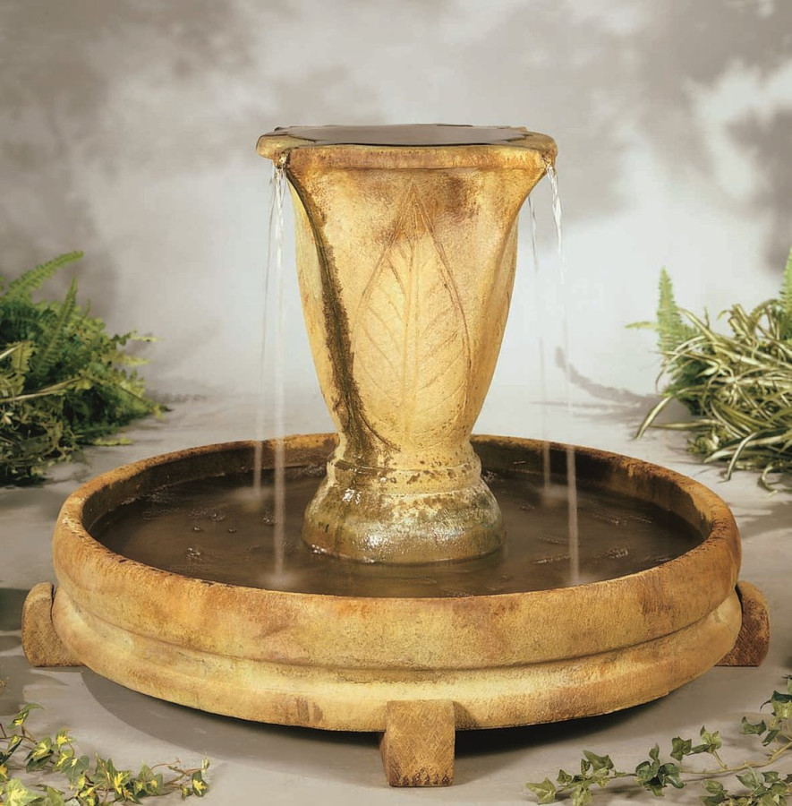 Overflowing Vase Cast Stone Fountain by Henri Studio