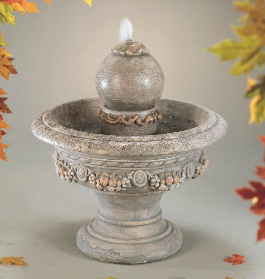 Roman Sphere Cast Stone Fountain by Henri Studio
