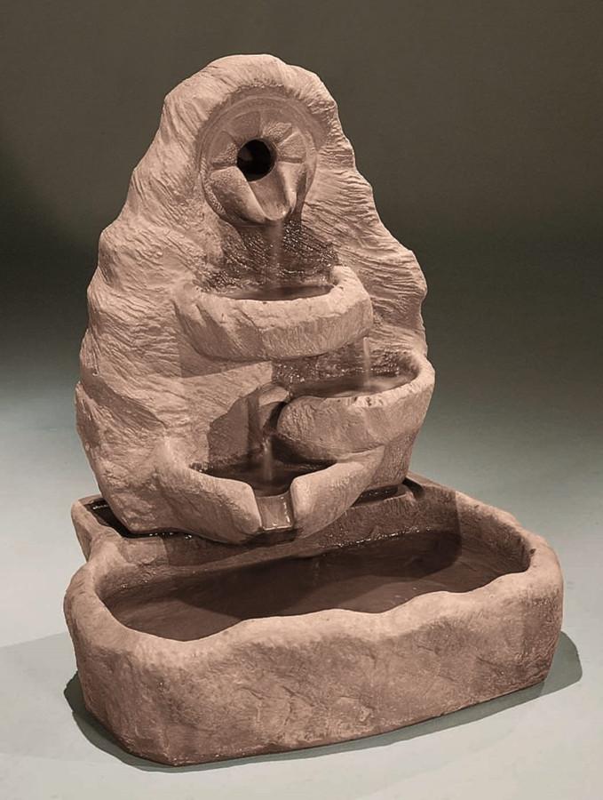 Small Multi-Spill Arch Cast Stone Fountain by Henri Studio