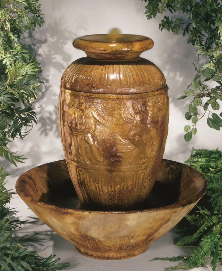Roman Jar Cast Stone Fountain by Henri Studio