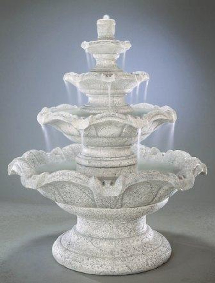 Quattro Classic Cast Stone Tiered Fountain by Henri Studio