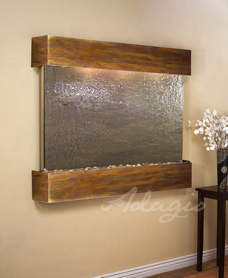 Rustic Copper, Feathestone Slate, Square Edges