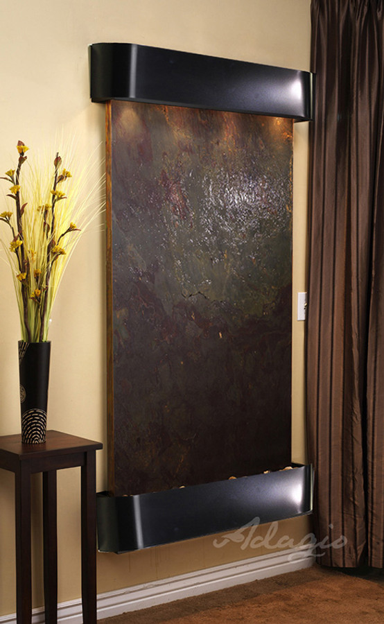 Blackened Copper Fame w/ Rajah Featherstone Round Edges