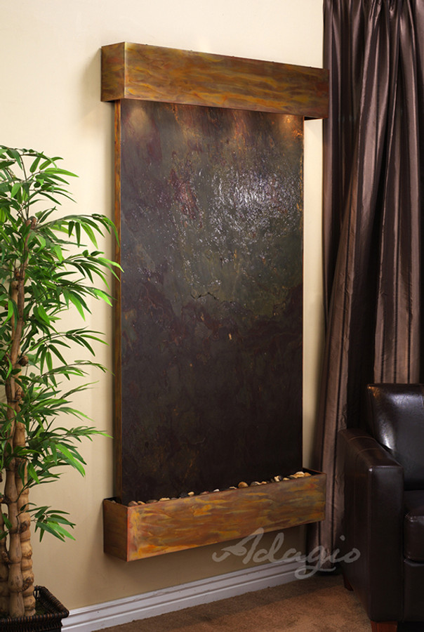 Rustic Copper Frame w/ Rajah Featherstone Square Edges