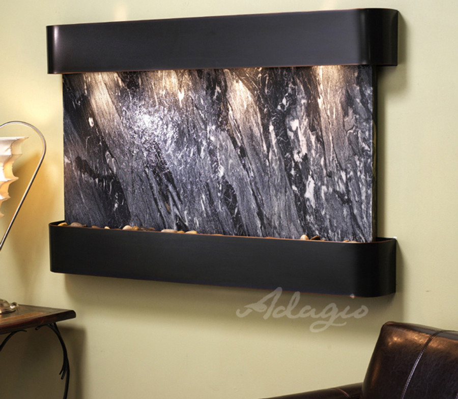 Blackened Copper with Black Marble