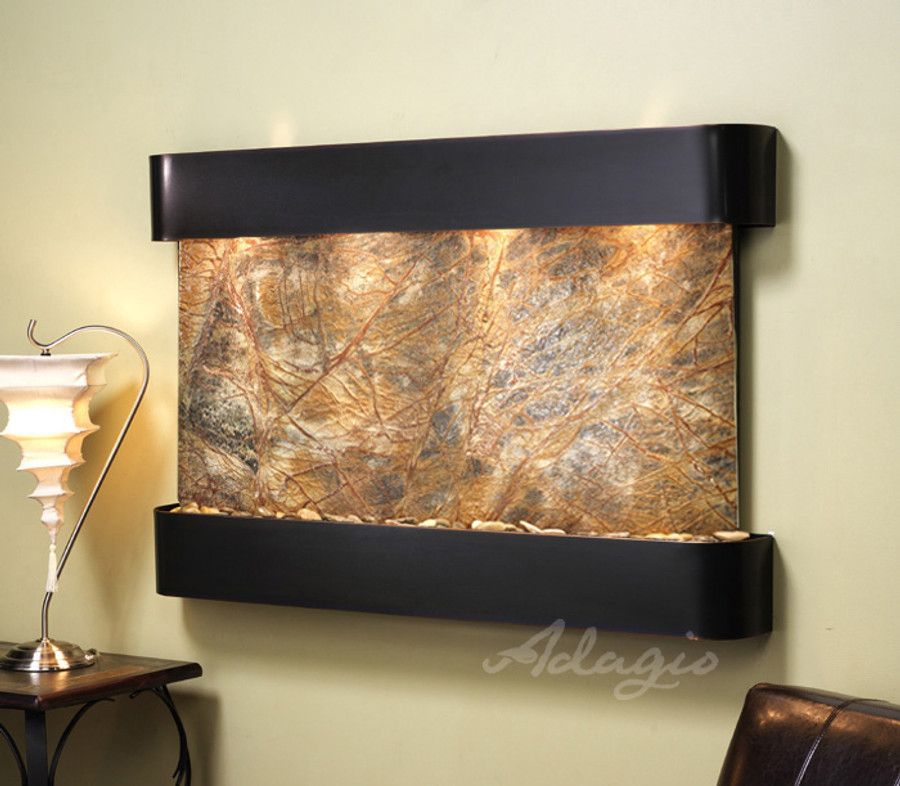 Blackened Copper with Brown Marble