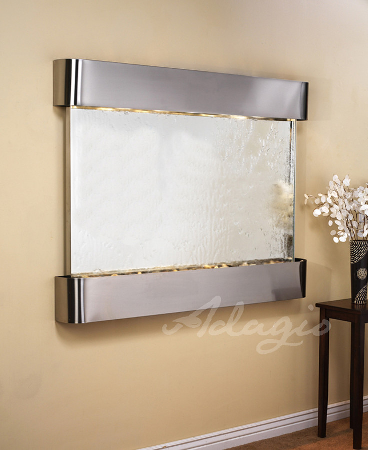 Stainless Steel, Silver Mirror, Round Edges
