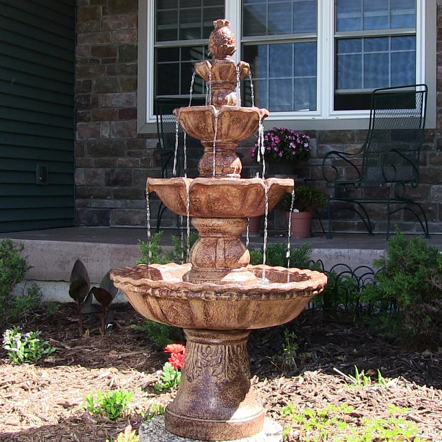 4-Tier Pineapple Outdoor Water Fountain