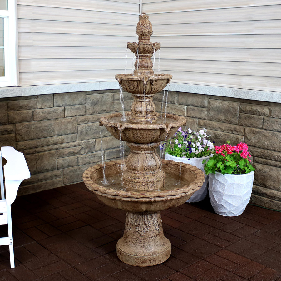4-Tier Pineapple Outdoor Water Fountain