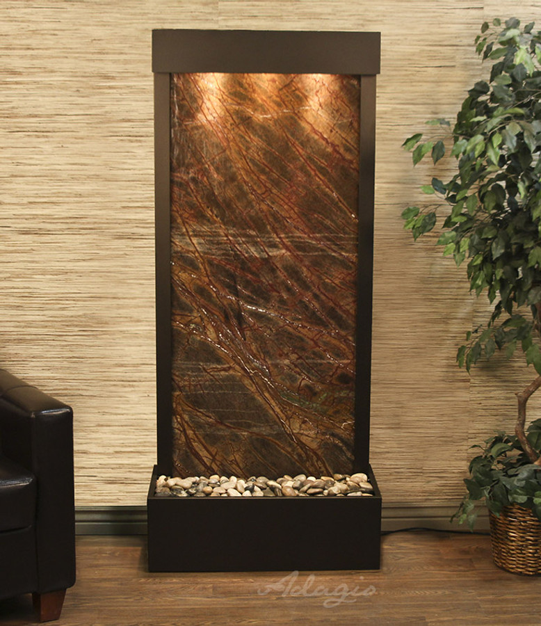 Rainforest Brown Marble & Antique Bronze