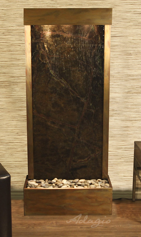 Rainforest Green Marble & Rustic Copper