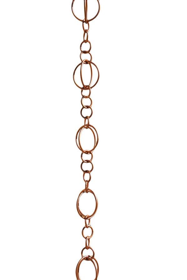Copper Life Circles Rain Chain