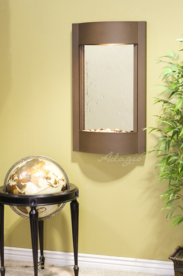 Woodland Brown & Silver Mirror