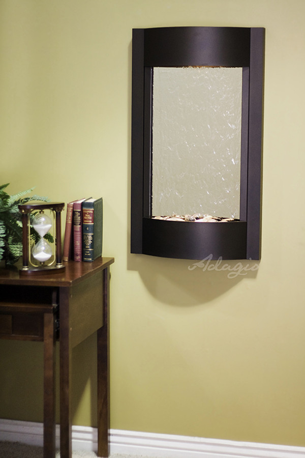Textured Black & Silver Mirror
