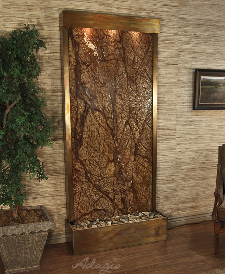 Rustic Copper & Rainforest Brown Marble