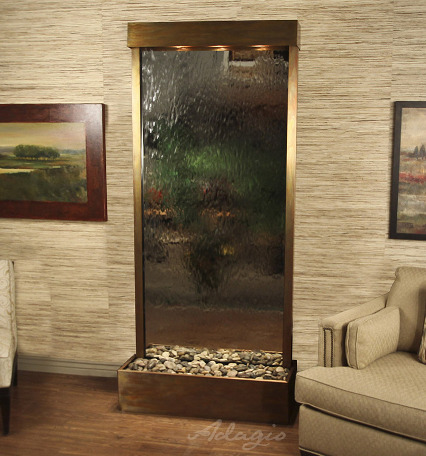 Rustic Copper & Silver Mirror