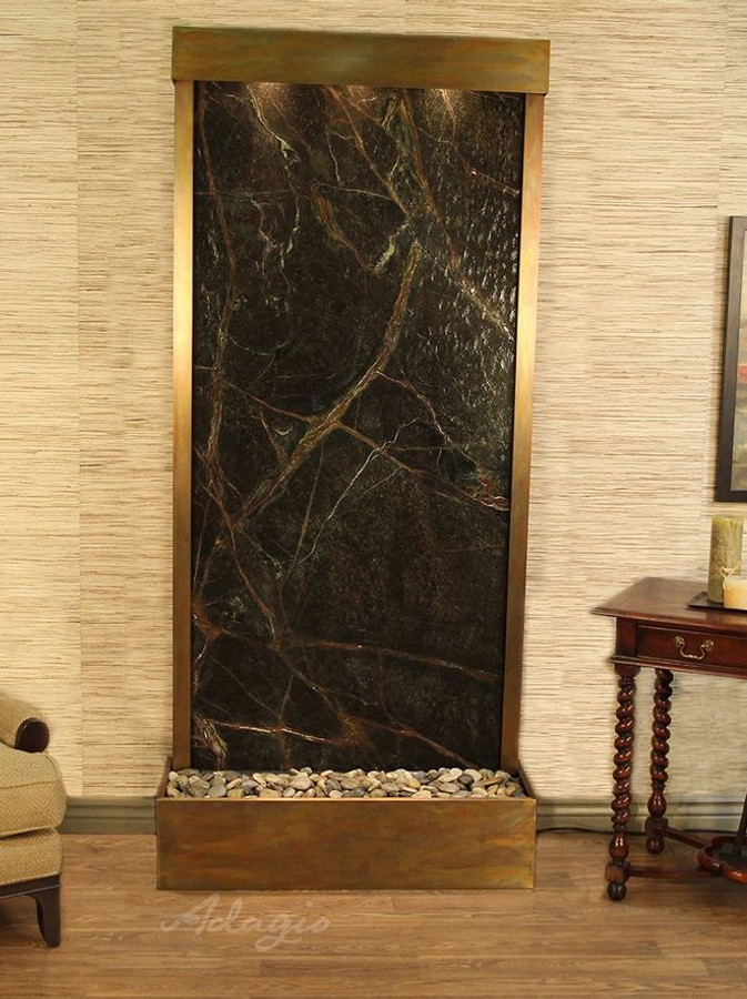 Rustic Copper & Rainforest Green Marble