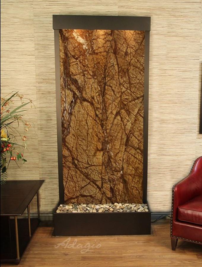 Antique Bronze & Rainforest Brown Marble