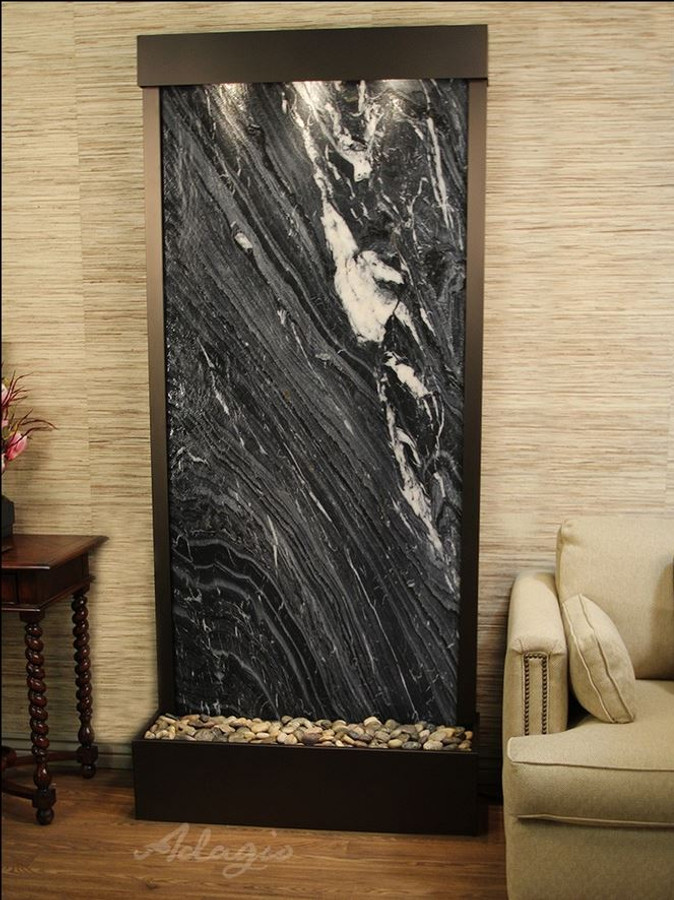 Antique Bronze & Black Spider Marble
