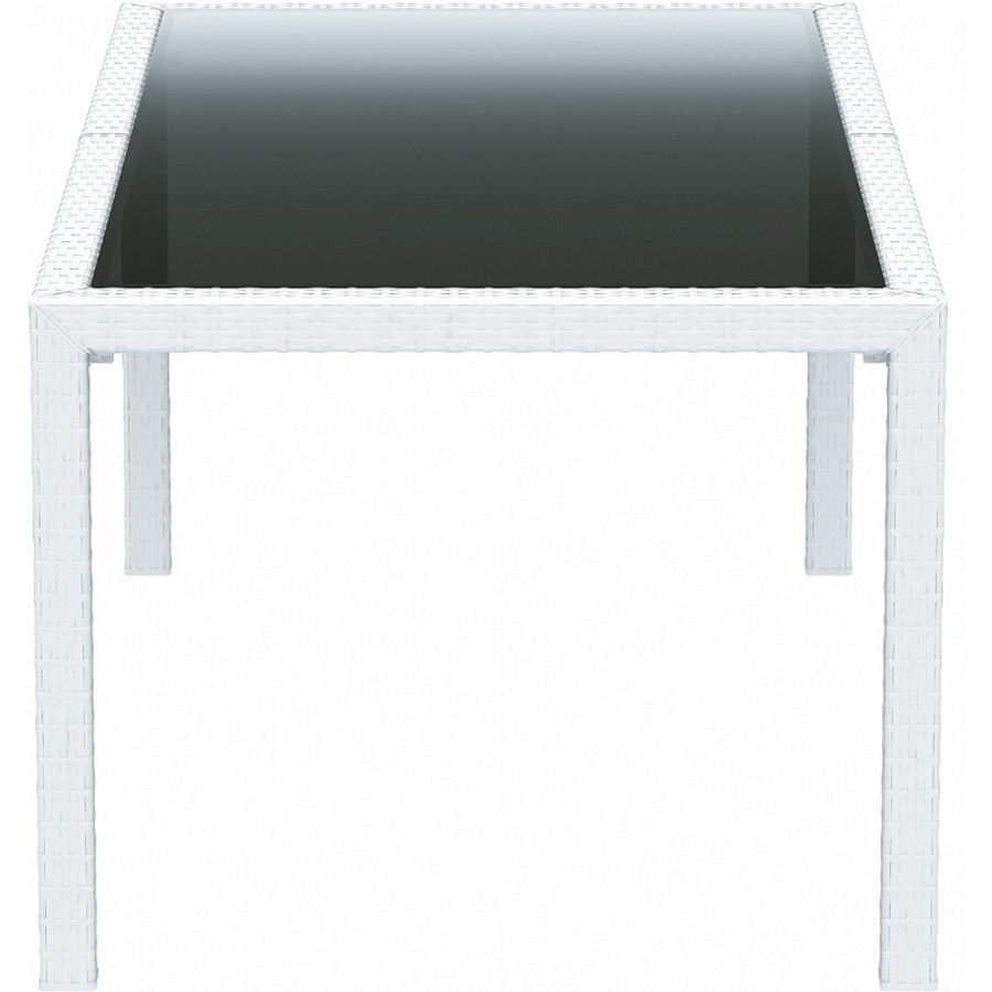 Miami Resin Wickerlook Rectangle Dining Table