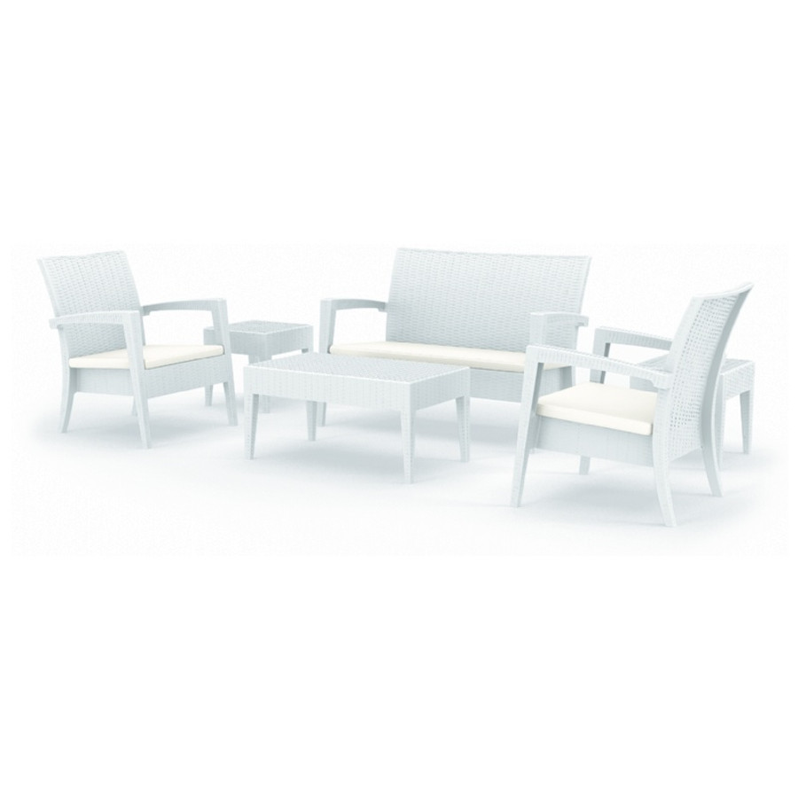 Miami Resin Wickerlook Conversation Set 6 Piece