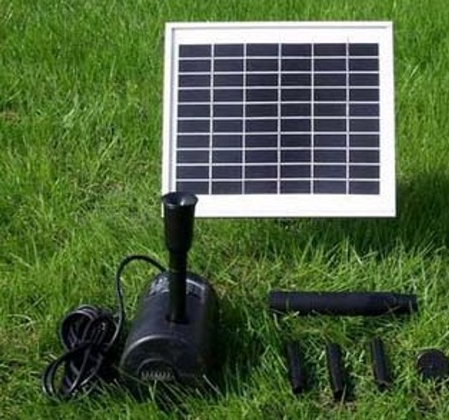 Sunnydaze Solar Pump and Solar Panel Kit With 2 Spray Heads, 132 GPH, 56-Inch Lift