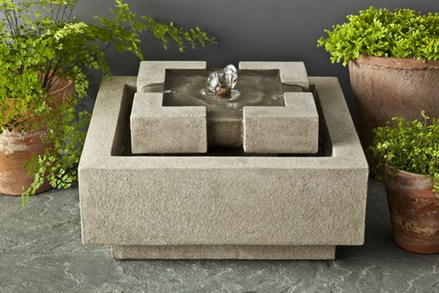 Escala Cast Stone Tabletop Fountain by Campania International