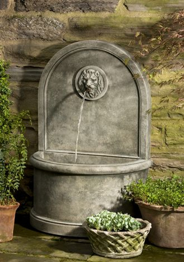 Stone Lion Wall Fountain by Campania International