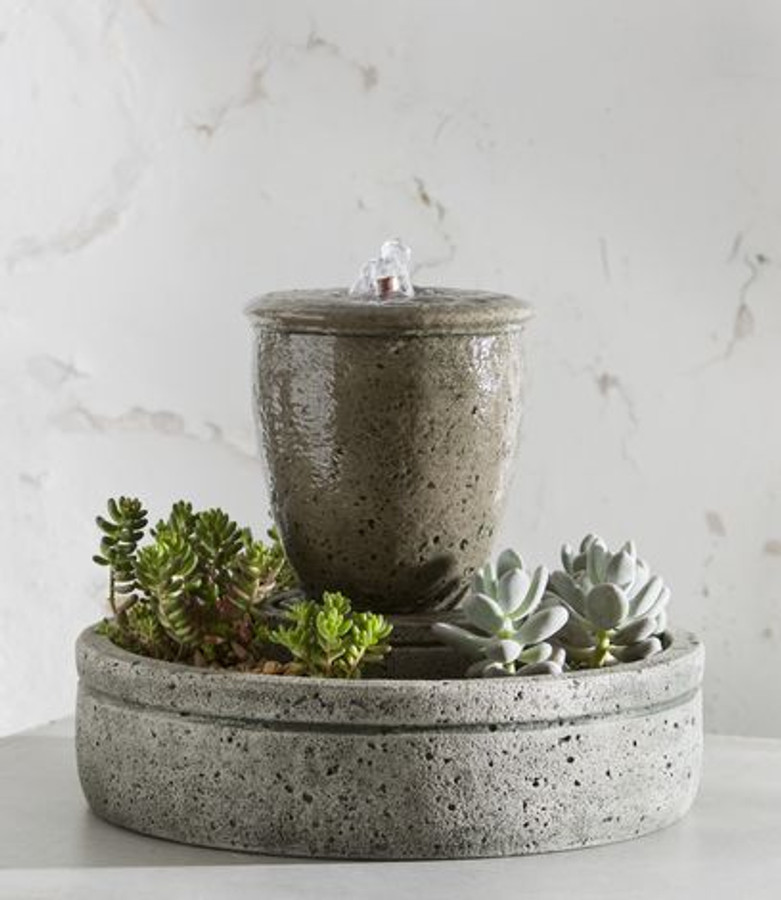 M-Series Rustic Spa Fountain w/ Planter by Campania International