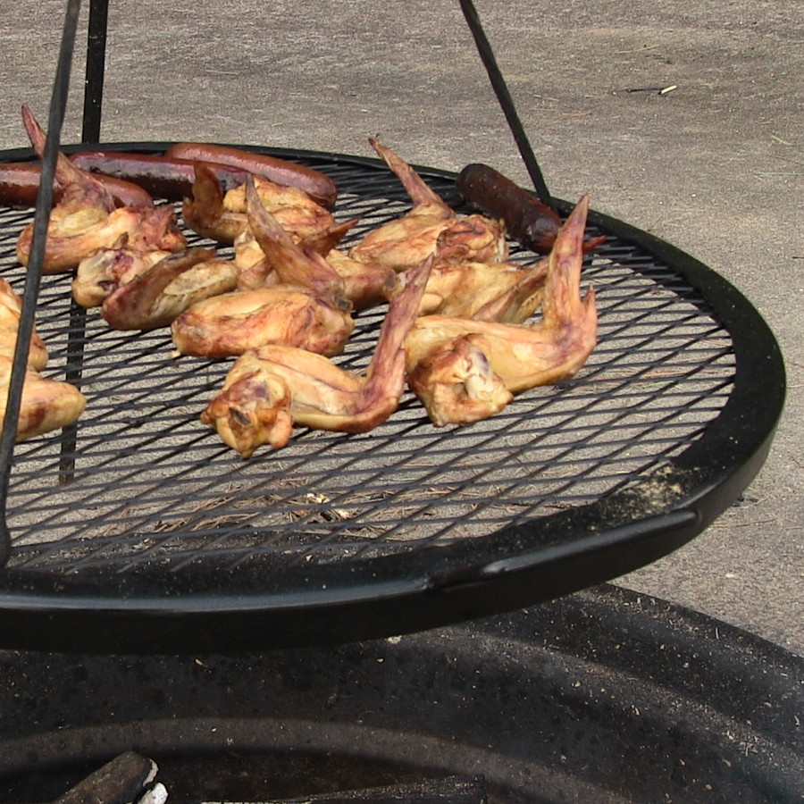 Closeup of X-Marks Cooking Grill