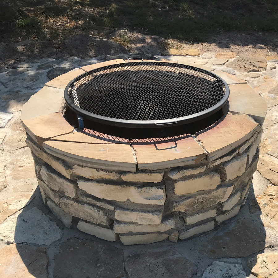 X-Marks Cooking Grill on Fire Pit
