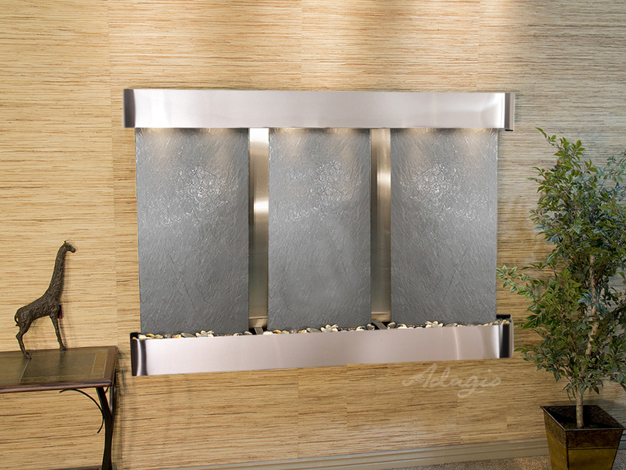 Stainless Steel & Black Featherstone with Rounded Corners