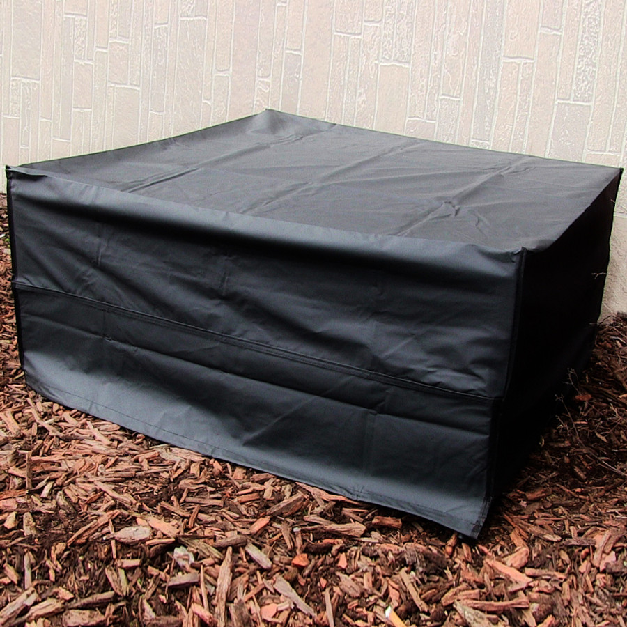 Square Black Fire Pit Cover