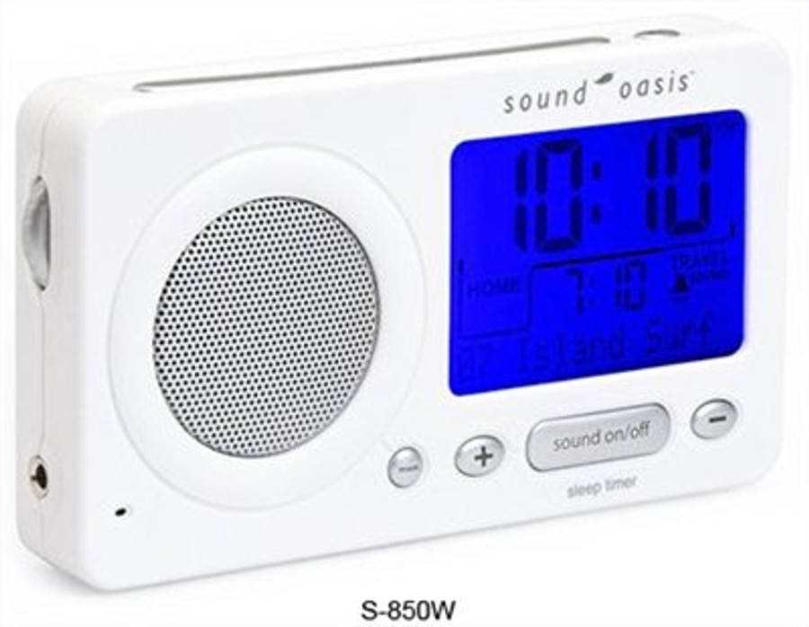 Sound Oasis S-850W Travel Sound Therapy System - White
