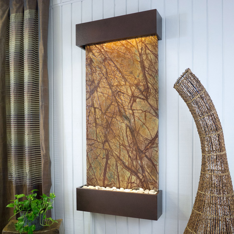 Brown Marble with Copper Vein Frame