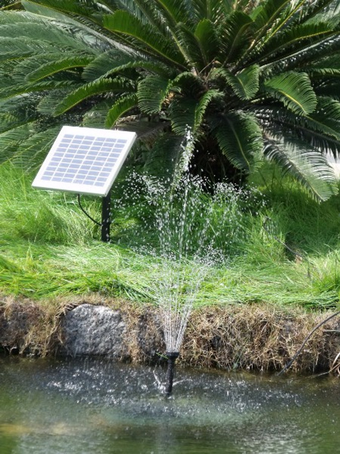 Sunnydaze Solar Pump and Solar Panel Kit with 2 Spray Heads, 125 GPH, 56-Inch Lift