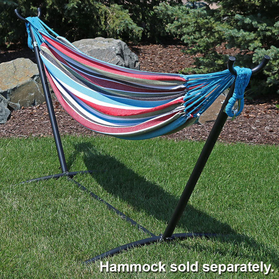 Black with Hammock Outdoors (Hammock Not Included)
