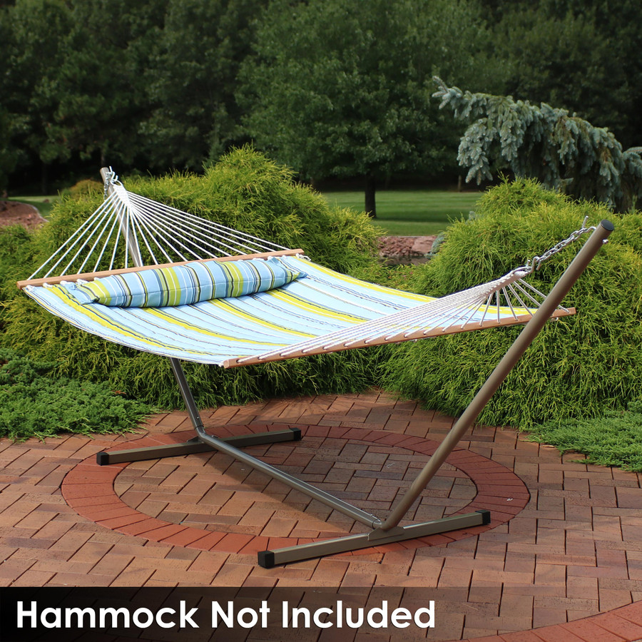Beige Stand with Spreader Bar Hammock (Hammock Not Included)