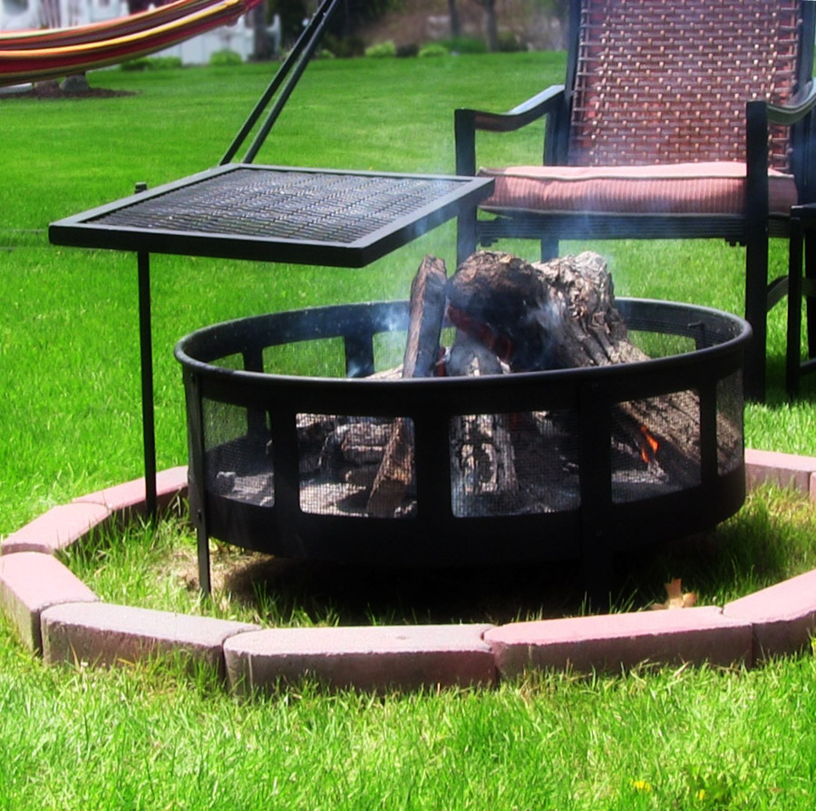 Portable Heavy Duty Adjustable Campfire Cooking Swivel Grill (Fire Ring Not Included)