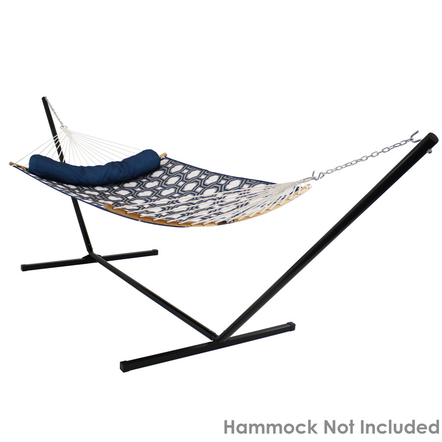 Spreader Bar Hammock on Black Stand (Hammock Not Included)