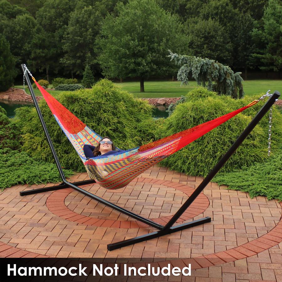 Mayan Hammock on Black Stand (Hammock Not Included)