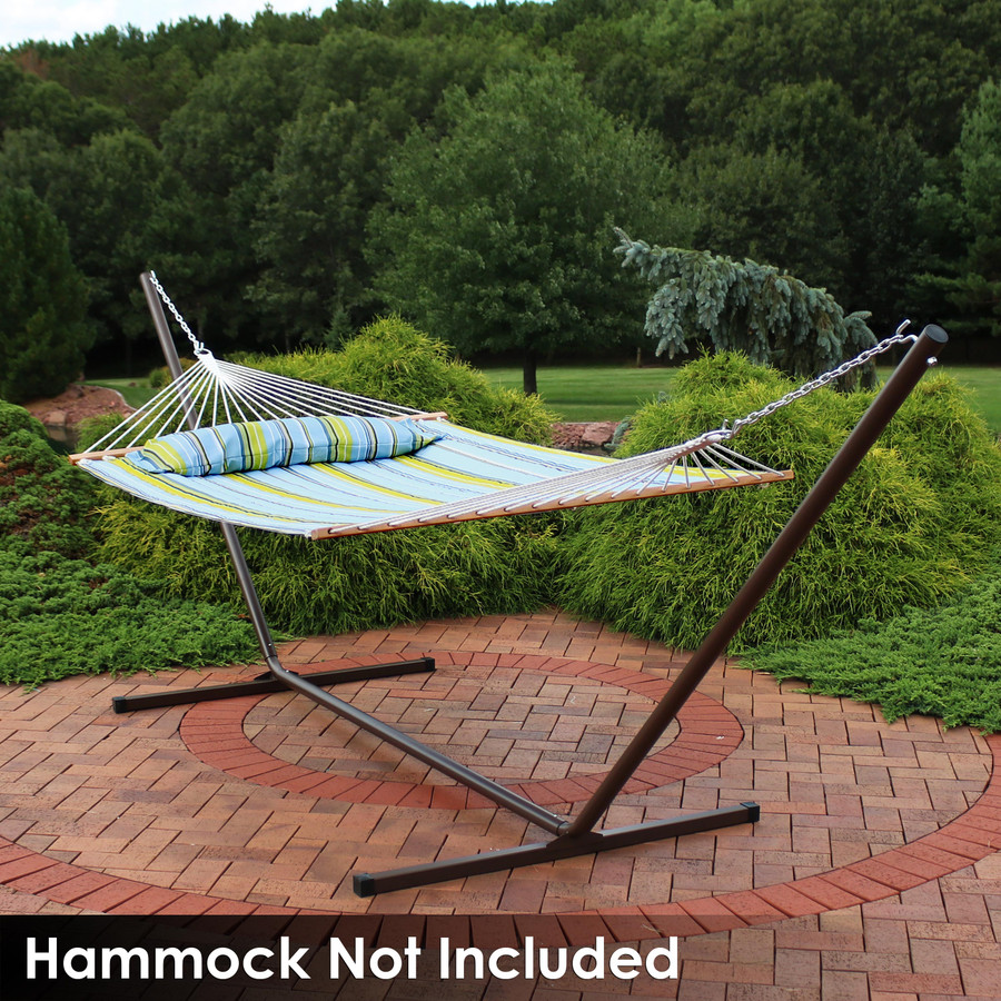 Quilted Spreader Bar Hammock on Bronze Stand (Hammock Not Included)